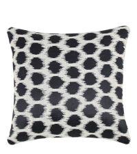 Dekokissenhülle mit modernem geometrischen Muster schwarz
