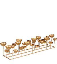 Teelichthalter matt gold beschichtet für viele Teelichter