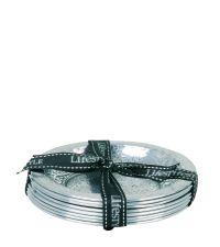 8 elegante Untersetzer - silber mit Verzierung