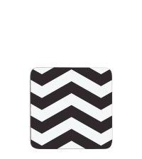 vier moderne Untersetzer mit Zick-Zack Muster schwarz & weiß