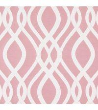 edler Vorhangstoff Amina Dusk mit geometrischem Wellenmuster von Prestigious Textiles rosa