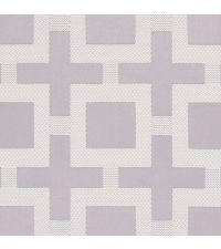 edler Vorhangstoff Newham Silver mit geometrischem Muster von Prestigious Textiles silber
