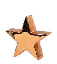 Weihnachtsstern aus Keramik glänzend gold