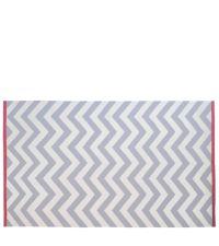 Wollteppich mit Zickzack-Muster - grau & creme 150 x 240 cm