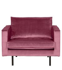 traumhafter Armlehnsessel mit Samtbezug, pink