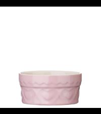 Auflaufförmchen aus Ton Ofenform mit Herzen rund, rosa