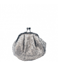 Lisbeth Dahl Kosmetiktasche mit Pailletten silber klein
