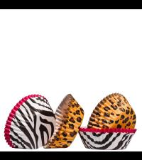 Papierbackförmchen für Cupcakes und Muffins Leoprint und Zebraprint