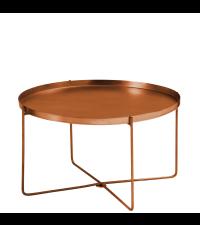 Couchtisch oder Beistelltisch aus Kupfer mit abnehmbarer Tischplatte