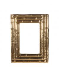 gold glänzender Bilderrahmen in Bambus-Optik