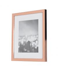 eleganter Bilderrahmen in glänzendem Kupfer mit leichter Hammerschlag-Optik