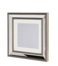 eleganter quadratischer Spiegelbilderrahmen Bilderrahmen mit Spiegelrahmen silber