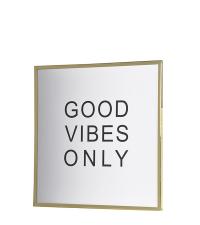glamouröses Wandbild 'good vibes only' weiß/gold