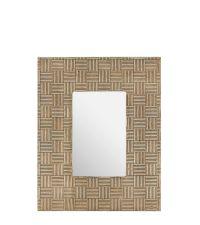 Bilderrahmen mit metallischem Rahmen mit strukturiertem Karomuster, antik gold