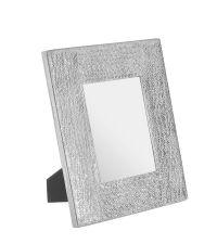 großer Bilderrahmen mit scimmerndem Aluminumrahmen, silber