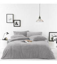Bettwäsche-Set aus weichem Teddyfell in grau