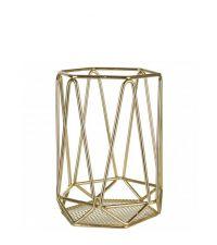 geometrisch geformter Behälter, gold