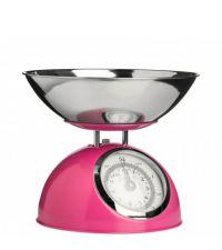 mechanische Küchenwaage in knalligem Pink