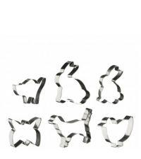 Keksausstecher-Set mit süßen Tiermotiven