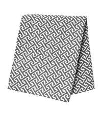 rechteckiges Baumwoll-Geschirrtuch mit geometrischem Muster in antrazith/weiß