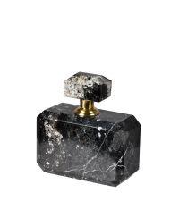 Parfümflasche aus schwarzem Marmor mit Messinghals