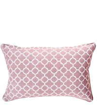 Kissenhülle Trellis aus Baumwolle mit geometrischem Muster, altrosa