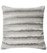 Kissenhülle mit samtiger Oberfläche und zarten Streifen, grau by Saskiasbeautyblog