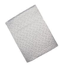 luxuriöse Decke mit feinem Muster, silber by Saskiasbeautyblog