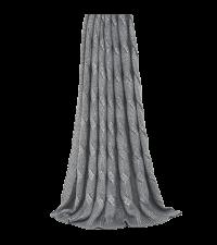 kuschelige Strick-Decke mit Zopf-Muster, metallic-silber by Saskiasbeautyblog