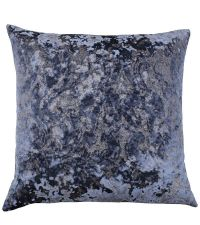 samtige Kissenhülle mit barocker Musterung in blau by Saskiasbeautyblog