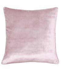 "edel schimmernde Kissenhülle aus rosa Samtstoff ""Pink Velvet"" by Saskiasbeautyblog"