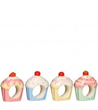 Cupcake Serviettenringe aus Keramik