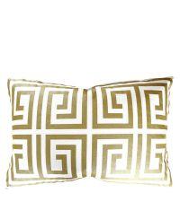 Kissenhülle aus Baumwolle in Glanzoptik mit geometrischem Muster, gold