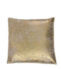 beiges Kissen mit metallischem Aufdruck, gold
