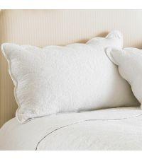 weiße dekorative Kissenhülle aus Baumwolle