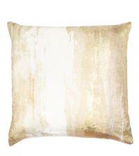 Kissenhülle mit metallisch reflektierendem Aufdruck, gold