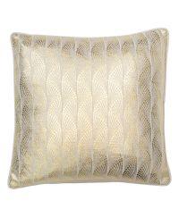 Baumwoll-Kissenhülle mit reflektierendem Foliendruck in gold