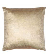 große, goldene Samt-Kissenhülle  mit metallischem Effekt
