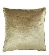 elegante Kissenhülle aus Samt mit strukturierter Oberfläche, gold