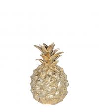 entzückend kleine, dekorative Ananas in glänzendem Gold