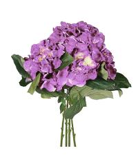 großer Kunstblumen-Strauß, Hortensien lila