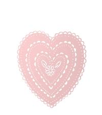 rundes Herz-Wandbild aus Aluminium, pastellrosa