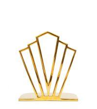 trendige Bücherstütze aus Messing im Art-Deco Style, gold
