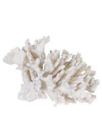 große Deko-Koralle in Weiß