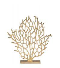 goldener Deko-Aufsteller aus Aluminium in Baumform
