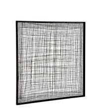 Wanddeko aus zarten Metallstreben in abstrakter Musterung in Gitter-Optik