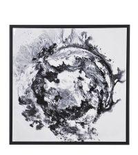 riesiges modernes Wandbild, Leinwanddruck in weiß & schwarz