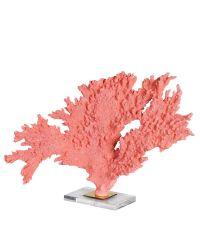 große Deko-Koralle auf Sockel aus Acrylglas in pink