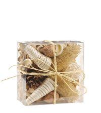 Pourri aus Trockenblumen mit Vanille-Duftmischung