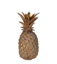 große Deko-Ananas, antikgold